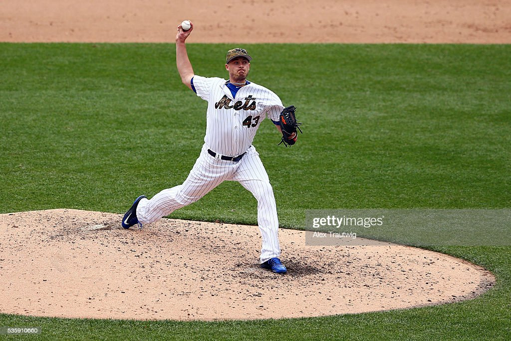 <a gi-track='captionPersonalityLinkClicked' href=/galleries/search?phrase=Addison+Reed&family=editorial&specificpeople=8195266 ng-click='$event.stopPropagation()'>Addison Reed</a> #43 of the New York Mets pitches in the eighth inning during the game against the Chicago White Sox at Citi Field on Monday, May 30, 2016 in the Queens borough of New York City.