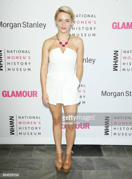 Addison Timlin arrives at the National Women's History Museum's 3rd Annual Women Making History event held at Skirball Cultural Center on August 23...