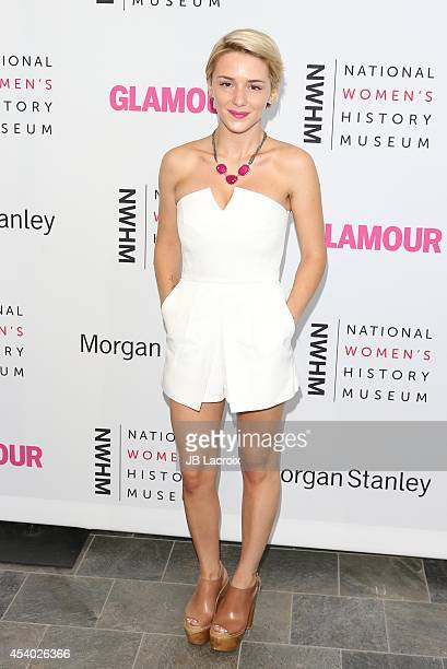 Addison Timlin attends the 3rd Annual Women Making History Brunch presented by the National Women's History Museum and Glamour Magazine at the...