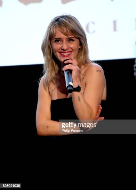 Addison Timlin speaks at the screening of 'Submission' during the 2017 Los Angeles Film Festival at Arclight Cinemas Culver City on June 19 2017 in...