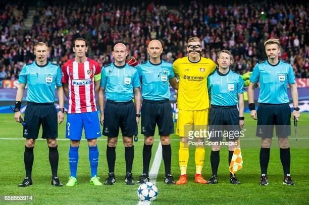Additional assistant referee Sergei Ivanov Diego Roberto Godin Leal of Atletico de Madrid assistant referee Tikhon Kalugin referee Sergei Karasev...