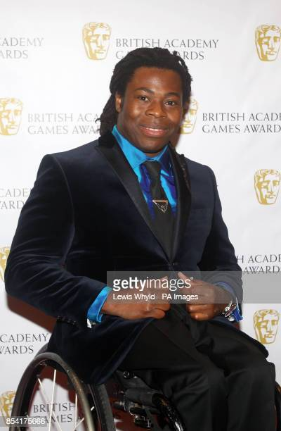 Ade Adepitan attending the British Academy Video Games Awards at the London Hilton Park Lane London