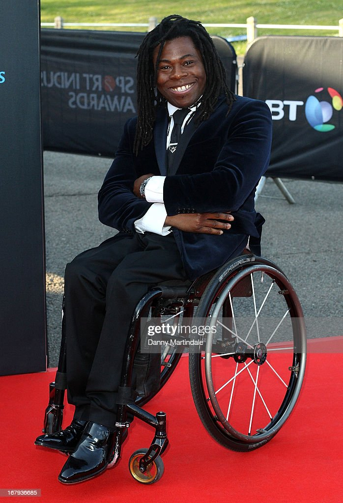 <a gi-track='captionPersonalityLinkClicked' href=/galleries/search?phrase=Ade+Adepitan&family=editorial&specificpeople=2323506 ng-click='$event.stopPropagation()'>Ade Adepitan</a> attends the BT Sports Industry awards at Battersea Evolution on May 2, 2013 in London, England.