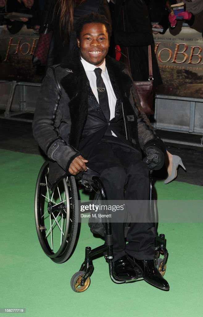 Ade Adepitan attends the Royal Film Performance of 'The Hobbit: An Unexpected Journey' at Odeon Leicester Square on December 12, 2012 in London, England.