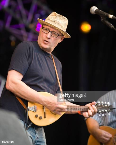 Ade Edmondson and the Bad Shepherds perform on stage on day 2 of Fairport's Cropedy Convention at Cropredy on August 14 2009 in Banbury England