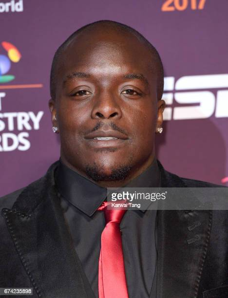 Adebayo Akinfenwa attends the BT Sport Industry Awards at Battersea Evolution on April 27 2017 in London England