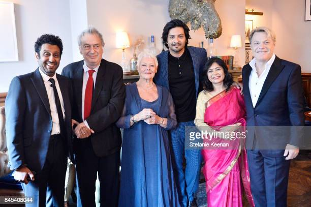 Adeel Akhtar Stephen Frears Judi Dench Ali Fazal Shrabani Basu and Eddie Izzard at Focus Features' VICTORIA ABDUL premiere party hosted by GREY GOOSE...