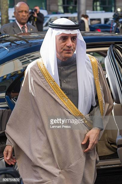 Adel bin Ahmed AlJubeir Minister for Foreign Affairs of the Kingdom of Saudi Arabia arrives for the 2016 Munich Security Conference at the...