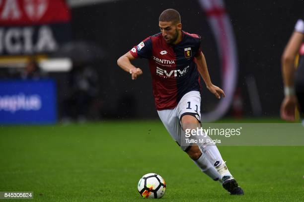 Adel Taarabat of Genoa in action during the Serie A match between Udinese Calcio and Genoa CFC at Stadio Friuli on September 10 2017 in Udine Italy