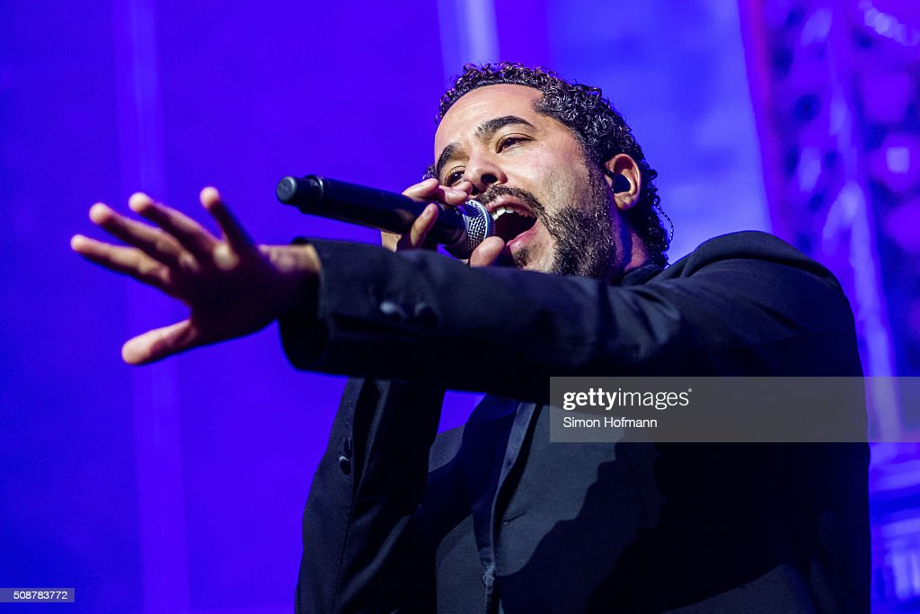 <a gi-track='captionPersonalityLinkClicked' href=/galleries/search?phrase=Adel+Tawil&family=editorial&specificpeople=852125 ng-click='$event.stopPropagation()'>Adel Tawil</a> performs during the German Sports Gala 'Ball des Sports 2016' on February 6, 2016 in Wiesbaden, Germany.