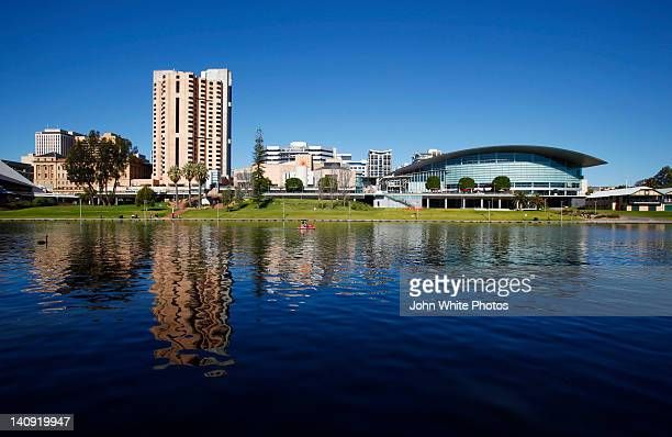 Adelaide and River Torrens in South Australia.