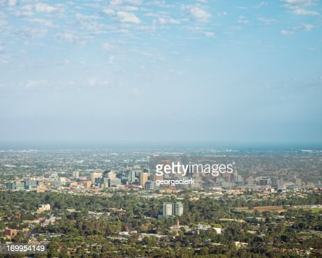 Adelaide Cityscape in Summer