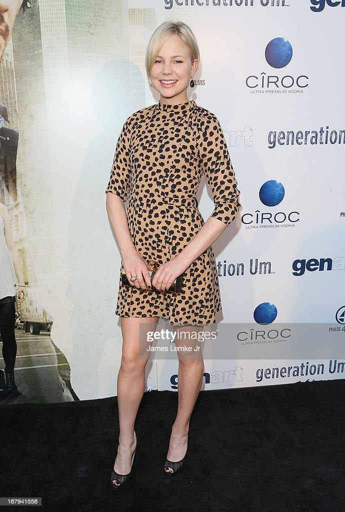 Adelaide Clemens attends the 'Generation Um' Los Angeles premiere presented by GenArt and Phase 4 Films held at the ArcLight Hollywood on May 2, 2013 in Hollywood, California.