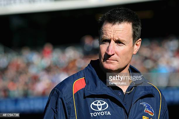 Adelaide Crows interim coaching diretor John Worsfold is pictured during the round 16 AFL match between the Port Adelaide Power and the Adelaide...