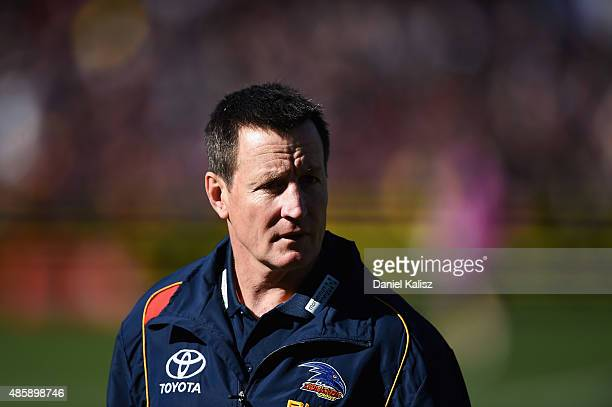 Adelaide Crows interim coaching diretor John Worsfold looks on during the round 22 AFL match between the Adelaide Crows and the West Coast Eagles at...