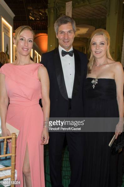 Adelaide de Clermont Tonnerre Ambassador of Italy Giandomenico Maggliano and his wife attend the 27th 'Biennale des Antiquaires' Pre Opening at Le...