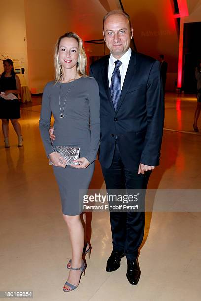 Adelaide de Clermont Tonnerre and her husband journalist Laurent Delpech attend 'Friends of Quai Branly Museum Society' dinner party at Musee du Quai...