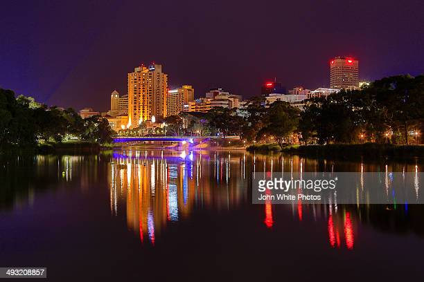 Adelaide reflected in the river Torrens
