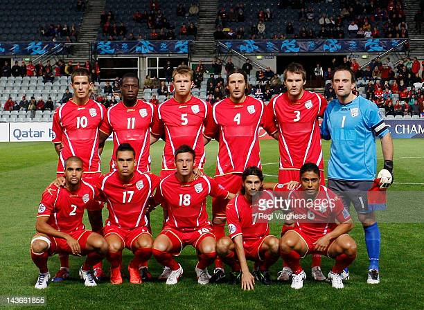Adelaide United ahead of the AFC Asian Champions League match against Bunyodkor at Hindmarsh Stadium on May 2 2012 in Adelaide Australia