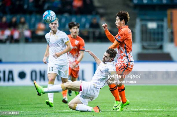 Adelaide United Defender Benjamin Garuccio in action during the AFC Champions League 2017 Group Stage Group H match between Jeju United FC vs...