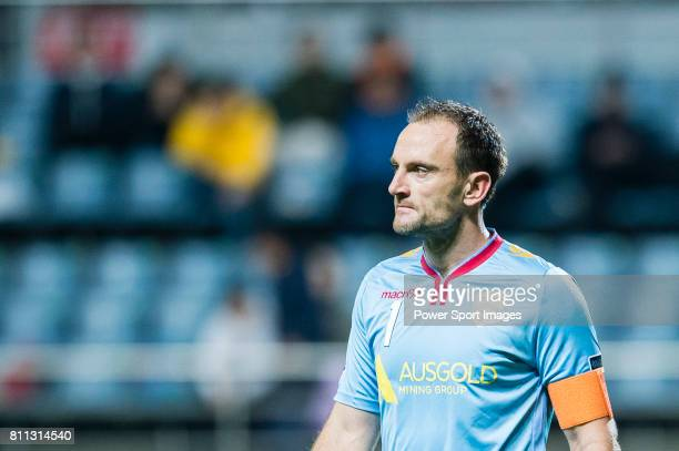 Adelaide United Goalkeeper Eugen Galekovic in action during the AFC Champions League 2017 Group Stage Group H match between Jeju United FC vs...