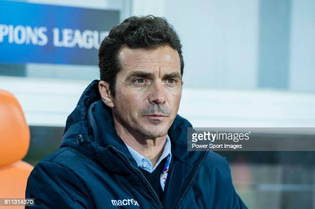Adelaide United head coach Amor Guillermo during the AFC Champions League 2017 Group Stage Group H match between Jeju United FC vs Adelaide United at...