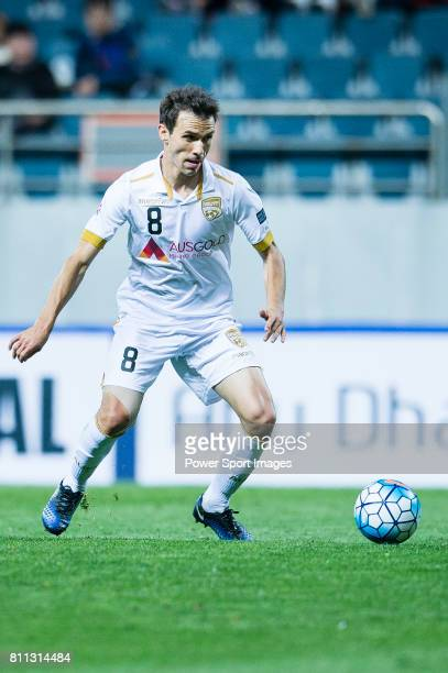 Adelaide United Midfielder Isaias Sanchez in action during the AFC Champions League 2017 Group Stage Group H match between Jeju United FC vs Adelaide...