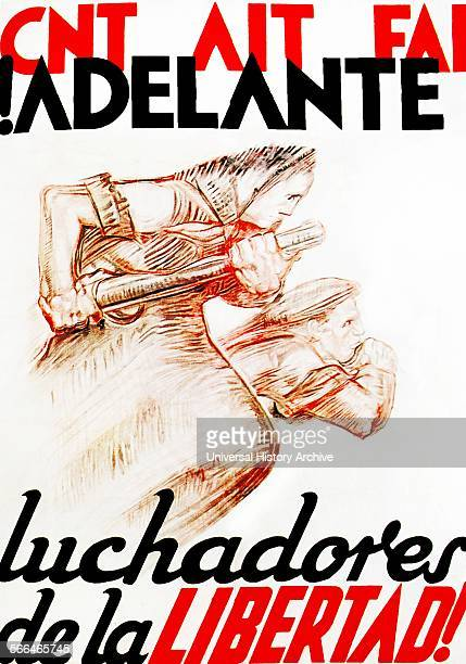 Adelante Luchadores De La Libertad Forward Wrestlers Of Liberty Spanish Anarchist poster 1936 Anarchism in Spain has historically gained more support...