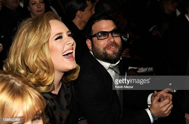 Adele and Simon Konecki attend The 54th Annual GRAMMY Awards at Staples Center on February 12 2012 in Los Angeles California