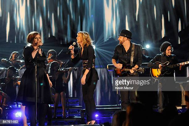 Adele and Sugarland performs at the 51st Annual GRAMMY Awards at the Staples Center on February 8 2009 in Los Angeles California