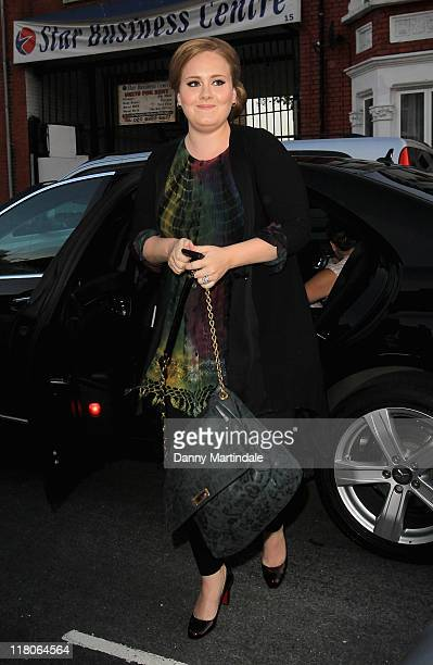 Adele arrives at 'Beyonce 4D with Belvedere' at Shepherds Bush Empire on June 27 2011 in London England