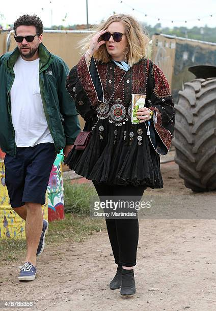 Adele at the Glastonbury Festival at Worthy Farm Pilton on June 27 2015 in Glastonbury England