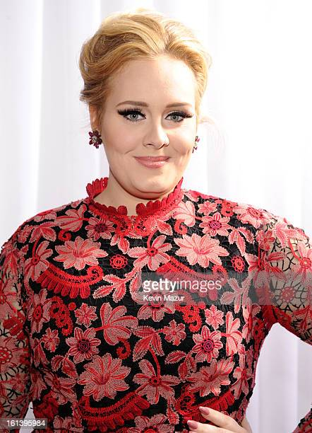 Adele attends the 55th Annual GRAMMY Awards at STAPLES Center on February 10 2013 in Los Angeles California