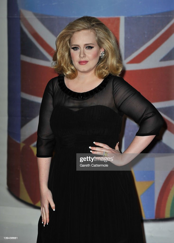 <a gi-track='captionPersonalityLinkClicked' href=/galleries/search?phrase=Adele+-+Zangeres&family=editorial&specificpeople=4898935 ng-click='$event.stopPropagation()'>Adele</a> attends The BRIT Awards 2012 at the O2 Arena on February 21, 2012 in London, England.