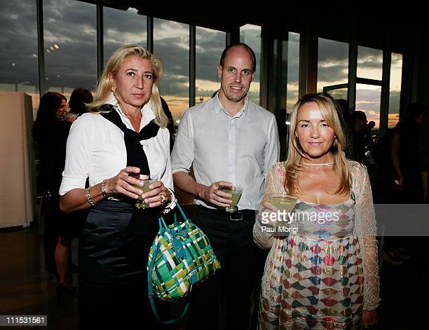 Adele Calise Roger Kilmartin and Jane Sutherland attend La Mer Celebrates 'Liquid Light' By Fabien Baron at The Glass Houses on September 10 2008 in...