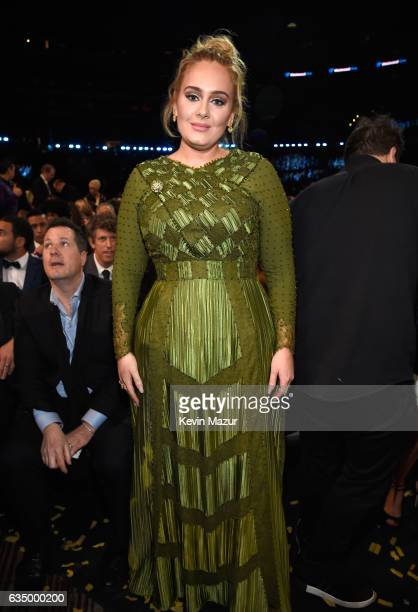 Adele during The 59th GRAMMY Awards at STAPLES Center on February 12 2017 in Los Angeles California