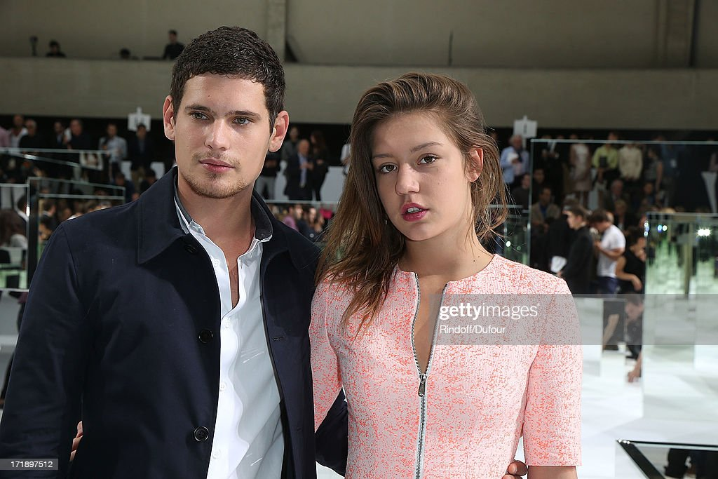 Adele Exarchopoulos and <a gi-track='captionPersonalityLinkClicked' href=/galleries/search?phrase=Jeremie+Laheurte&family=editorial&specificpeople=10925728 ng-click='$event.stopPropagation()'>Jeremie Laheurte</a> attend Dior Homme Menswear Spring/Summer 2014 show as part of Paris Fashion Week on June 29, 2013 in Paris, France.