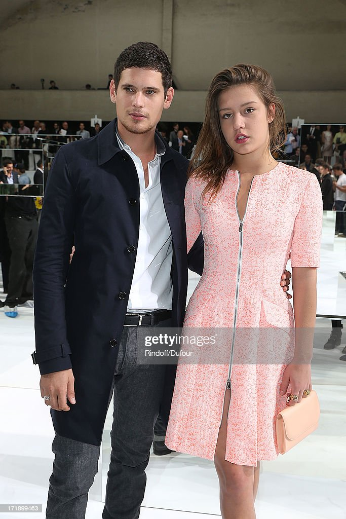 Adele Exarchopoulos and Jeremie Laheurte attend Dior Homme Menswear Spring/Summer 2014 show as part of Paris Fashion Week on June 29, 2013 in Paris, France.