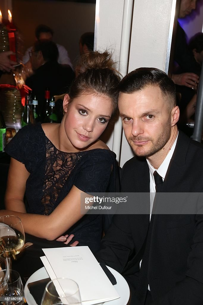 Adele Exarchopoulos and Kris Van Aasche attend the Annual Charity Dinner Hosted By The AEM Association Children Of The World For Rwanda on December 17, 2013 in Paris, France.