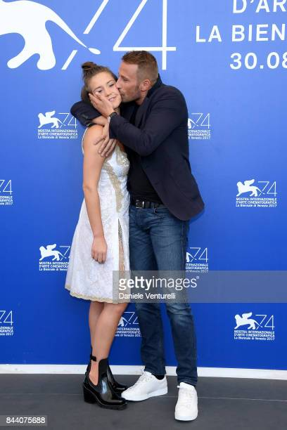 Adele Exarchopoulos and Matthias Schoenaerts attend the 'Racer And The Jailbird ' photocall during the 74th Venice Film Festival at Sala Casino on...