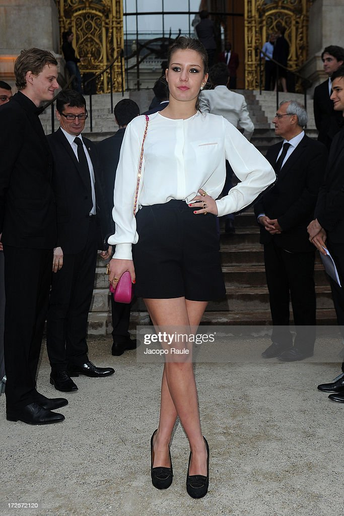 Adele Exarchopoulos arrives at 'The Glory Of Water' : Karl Lagerfeld's Exhibition Dinner at Fendi on July 3, 2013 in Paris, France.