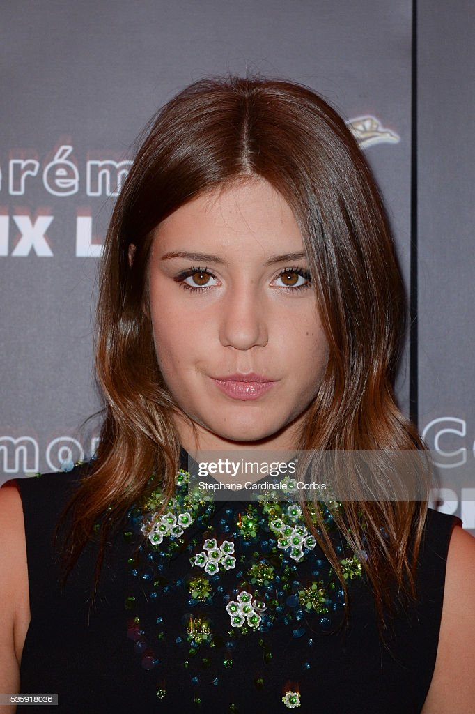 Adele Exarchopoulos attends 'Les Prix Lumieres 2014' Cinema Awards, in Paris.