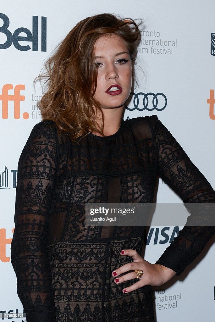 Adele Exarchopoulos attends premeire of 'Blue Is The Warmest Color' at Winter Garden Theatre on September 5, 2013 in Toronto, Canada.
