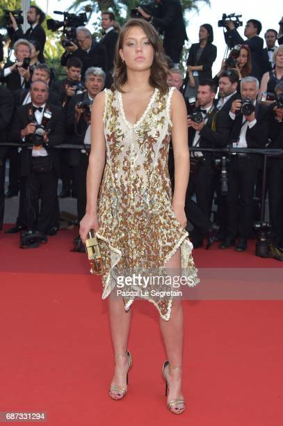Adele Exarchopoulos attends the 70th Anniversary of the 70th annual Cannes Film Festival at Palais des Festivals on May 23 2017 in Cannes France