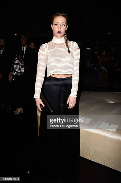 Adele Exarchopoulos attends the HM show as part of the Paris Fashion Week Womenswear Fall/Winter 2016/2017 on March 2 2016 in Paris France