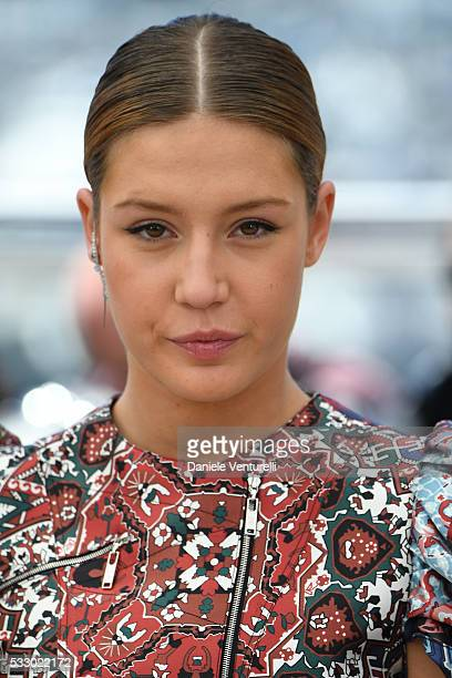 Adele Exarchopoulos attends 'The Last Face' Photocall during The 69th Annual Cannes Film Festival on May 20 2016 in Cannes