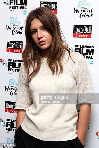 Adele Exarchopoulos attends the Love Gala screening of 'Blue Is The Warmest Colour' in association with Timeout at the Curzon Chelsea on October 14...