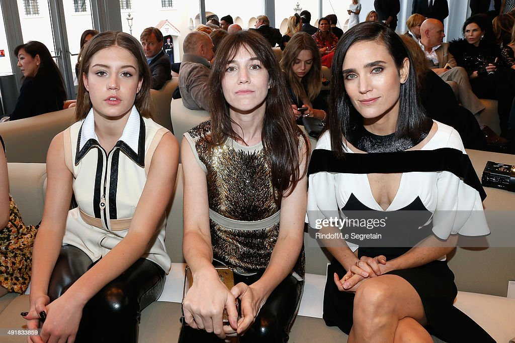 Adele Exarchopoulos, <a gi-track='captionPersonalityLinkClicked' href=/galleries/search?phrase=Charlotte+Gainsbourg&family=editorial&specificpeople=243034 ng-click='$event.stopPropagation()'>Charlotte Gainsbourg</a> and <a gi-track='captionPersonalityLinkClicked' href=/galleries/search?phrase=Jennifer+Connelly&family=editorial&specificpeople=201581 ng-click='$event.stopPropagation()'>Jennifer Connelly</a> attend the Louis Vuitton Cruise Line Show 2015 at Palais Princier on May 17, 2014 in Monte-Carlo, Monaco.