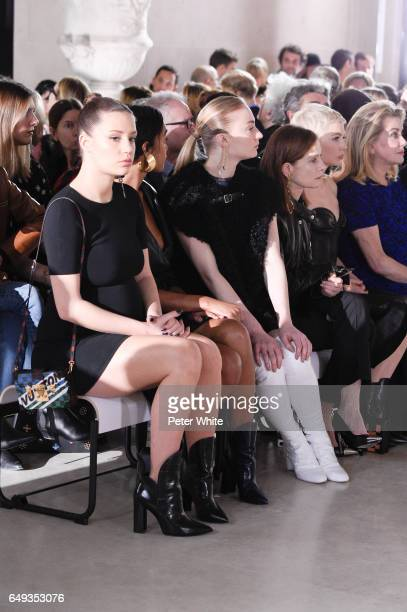 Adele Exarchopoulos Sophie Turner Isabelle Huppert Michelle Williams and Catherine Deneuve attend the Louis Vuitton show as part of the Paris Fashion...