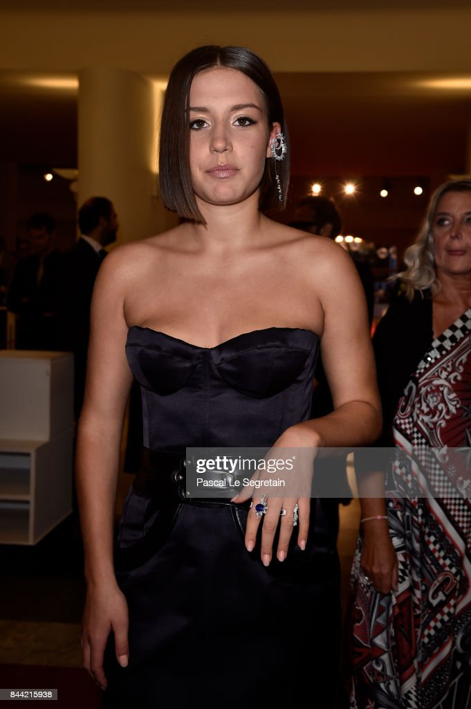 Adele Exarchopoulos walks the red carpet ahead of the 'Racer And The Jailbird (Le Fidele)' screening during the 74th Venice Film Festival at Sala Grande on September 8, 2017 in Venice, Italy.